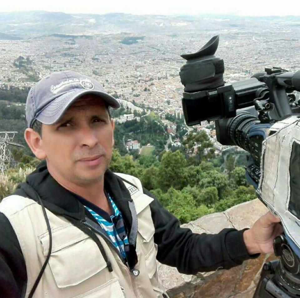 Camarógrafo Rigoberto Arias. Foto Facebook Jerry Alfaro
