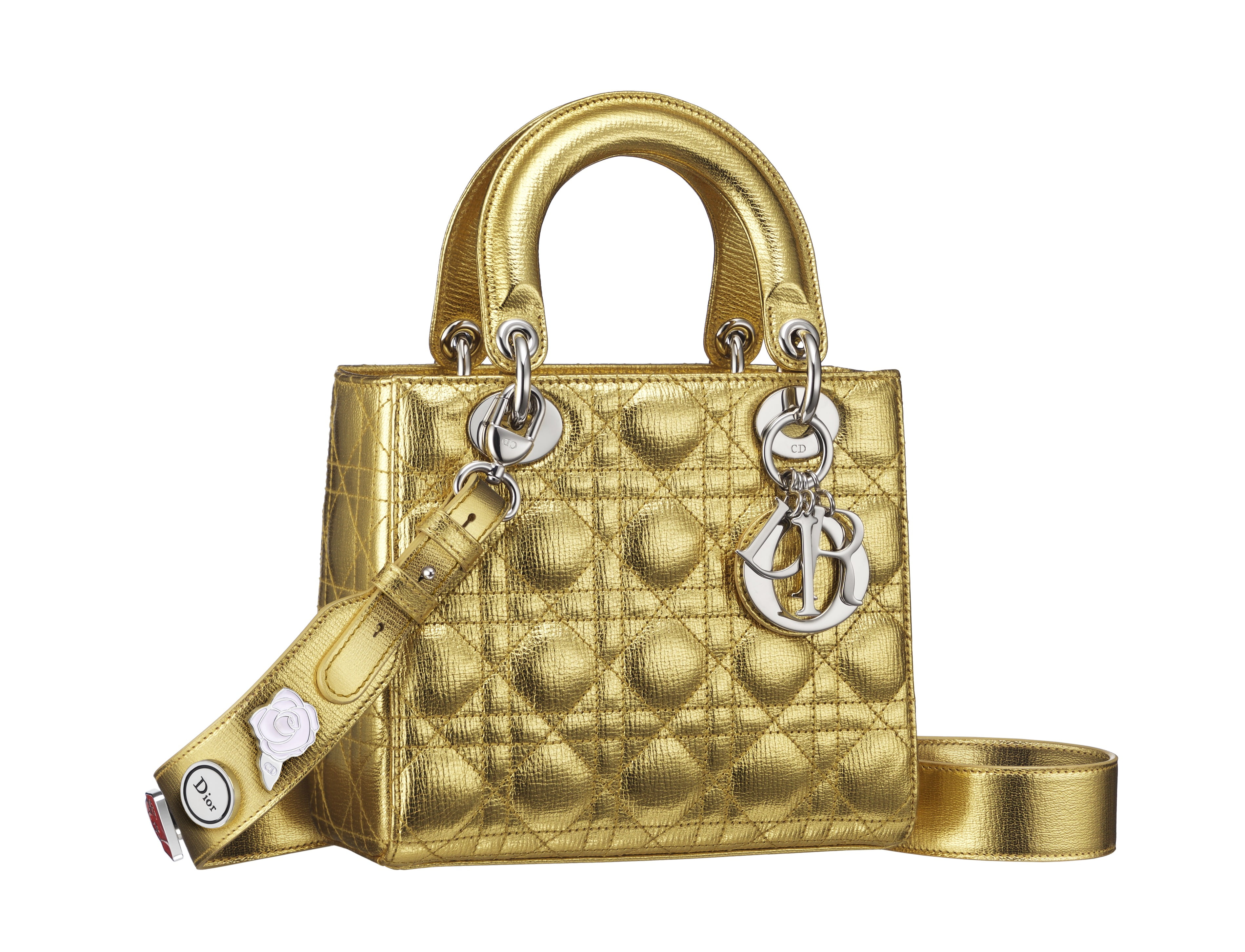 Lady Dior Small Pins - Gold