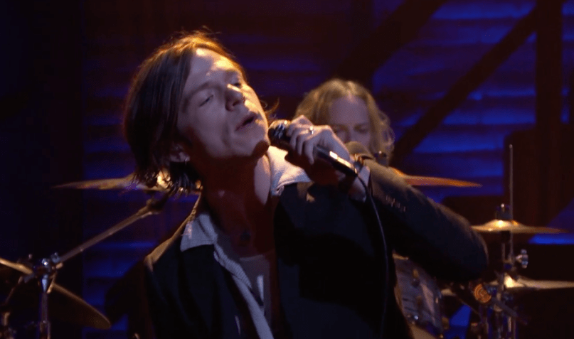 "Video: Cage the Elephant Perform ""Trouble"" on 'Conan'"