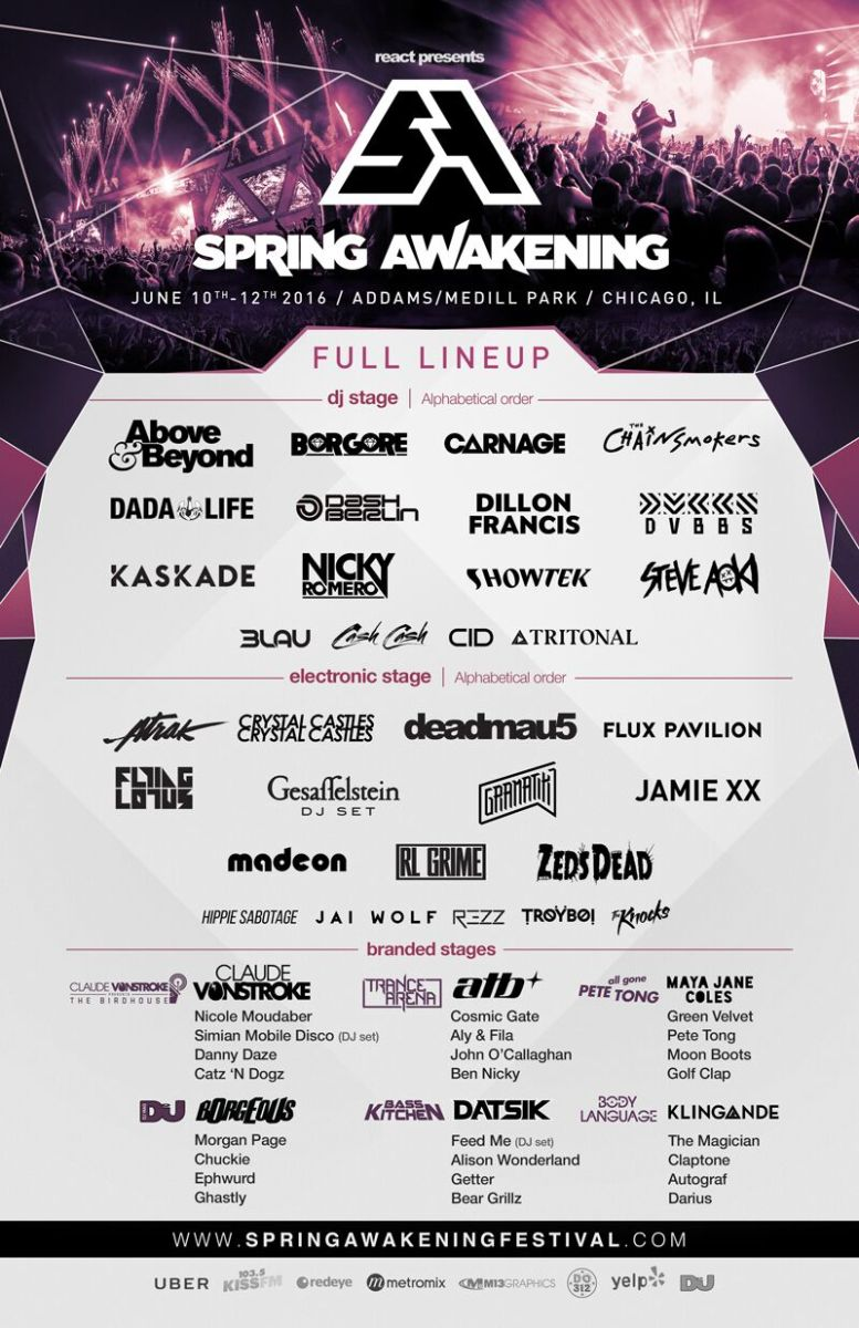 Spring Awakening Music Festival Announces 2016 Lineup & New Location