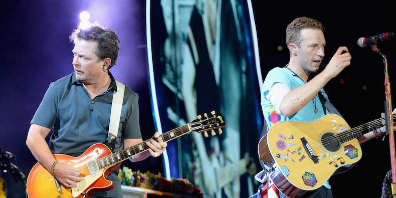 Video: Coldplay Bring Out Michael J. Fox To Play 'Back to the Future' Songs