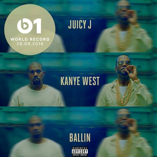 "Juicy J feat. Kanye West - ""Ballin"""