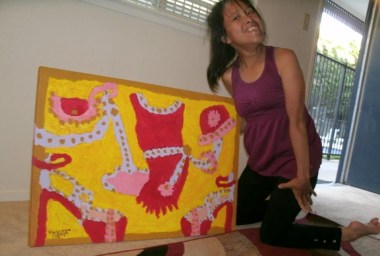 Vanessa Castro and her 'Salsa Shoe' Painting
