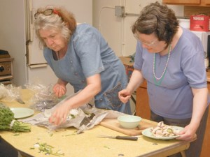 Preparing Food at the East Bay Center for the Blind.