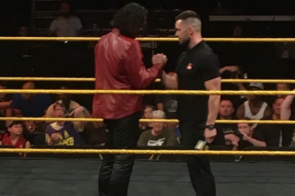 Shinsuke Nakamura & Finn Balor - June 9, 2016 NXT TV taping (Josh Parry (c) PWTorch.com)
