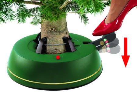 Krinner Vario Christmas Tree Stand supporting tree