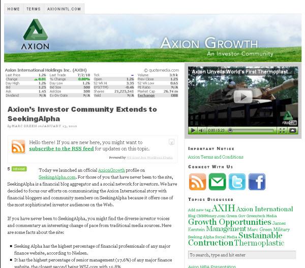 Axion on SA