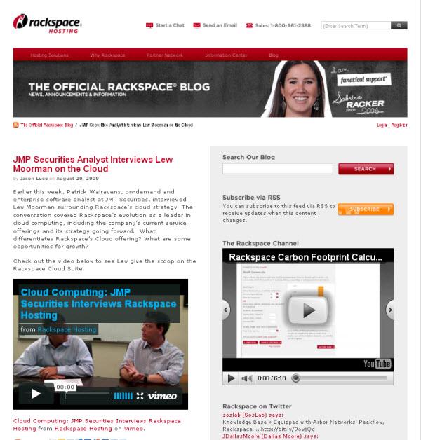 Rackspace JMP Interview