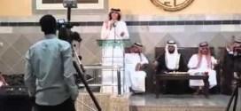 شاهد : سقوط شاب #كويتي في حفل زفاف بسبب #العين !