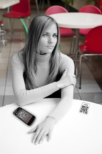 Young girl in cafe