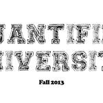 Quantified University – Fall 2013 Curriculum