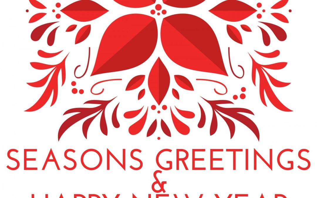 Seasons' Greetings & Happy New Year!