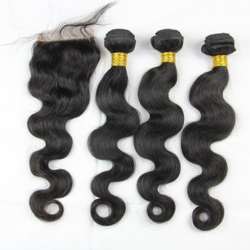 Malaysian Hair 3 Bundle Deals W Lace Closure Queen