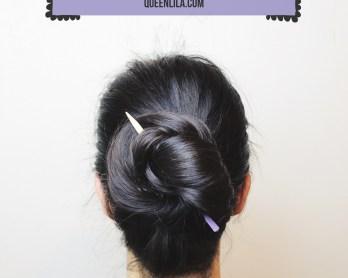 How to use hair sticks by queenlila.com. Click through for tutorial.