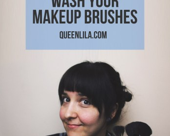 How to wash your makeup brushes by queenlila.com | Click through for the tutorial!