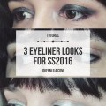 3 eyeliner looks inspired by the SS2016 runways. Click through for the tutorial! | Queen Lila