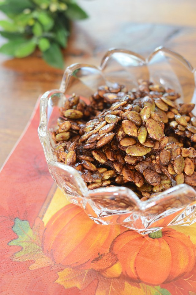 Maple Glazed Pumpkin Seed Clusters - raw pumpkin seeds roasted in ...
