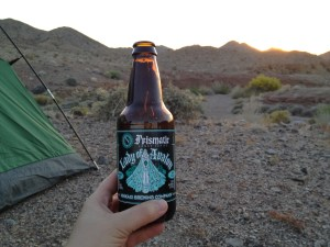 On our first official date we bonded over our love of good beer and camping in the desert.