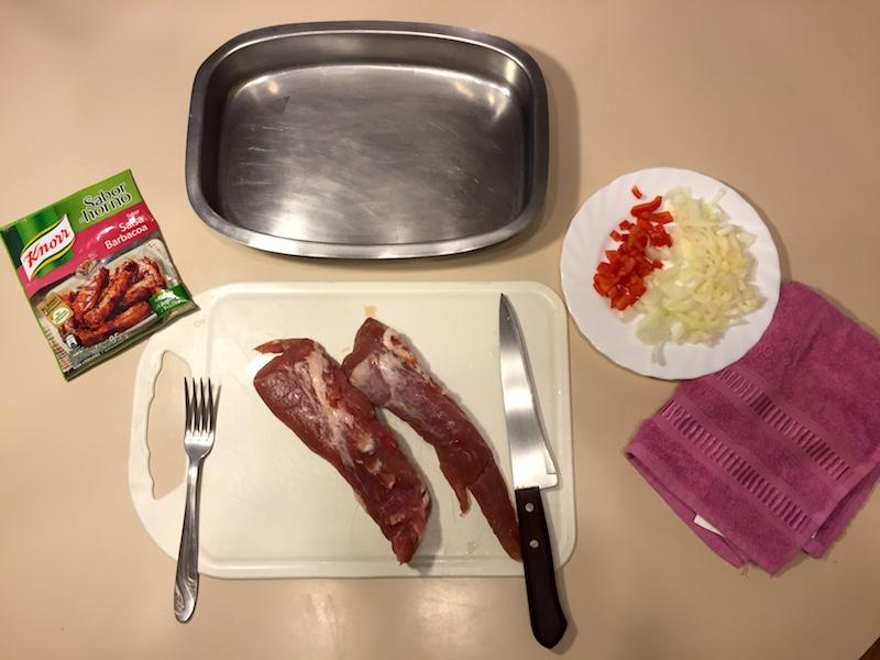 Receta de lomo de cerdo a la barbacoa con las bolsas Knorr