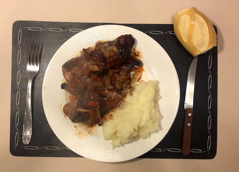 Lomo de cerdo al horno con las bolsas Knorr