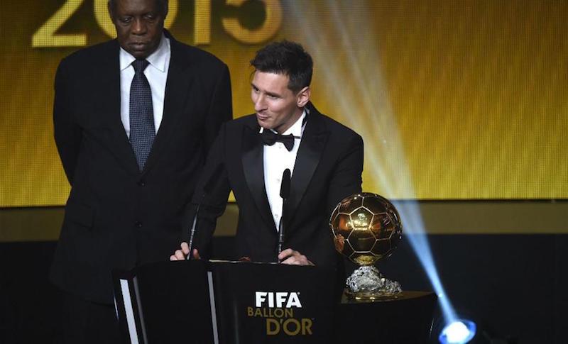Messi y su quinto balón de oro