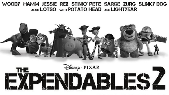 The Expendables 2 hecha por Pixar