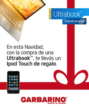 Ultrabook + iPod Touch con Garbarino e Intel