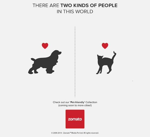 Zomato: perros o gatos (hay 2 tipos de personas)