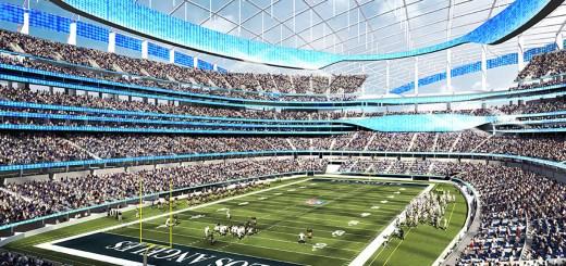 Il disegno del nuovo stadio ad Inglewood