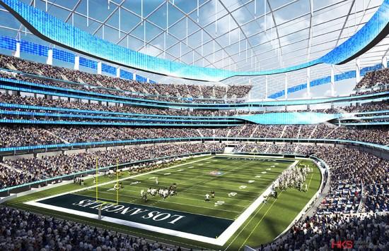 Los Angeles Rams Il disegno del nuovo stadio ad Inglewood