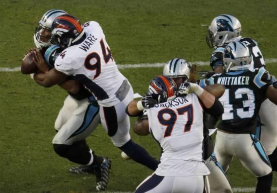 Denver Broncos Word Champions, Newton braccato