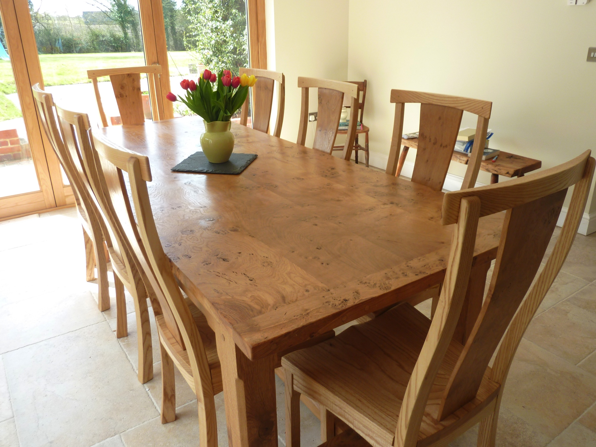 large pippy oak dining table and chairs large kitchen tables Large Oak Dining Table
