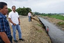 Concejales verifican construcción  de muro de gaviones y encauces de esteros