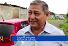 ALCALDE RECORRE SECTOR LAS DELICIAS DEL OESTE