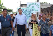 Alcalde Jorge Domínguez constata obras en Los Sauces