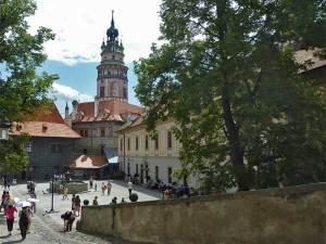 La Deuxième Cour du Château de Český Krumlov où se trouve le Hradek (Petit Château)