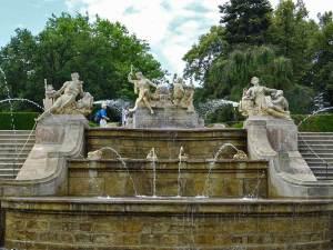 La Fontaine à quatre cascades des Jardins du château