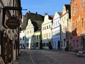 La Rue Široká, la rue la plus large de Český Krumlov