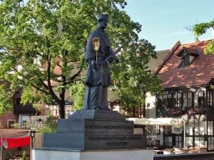 La statue Saint-Jean Népomucène sur le Pont de Latrán