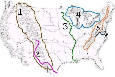 United States Mountain Ranges Map Maps United States Map Mountain - Mountain ranges us map