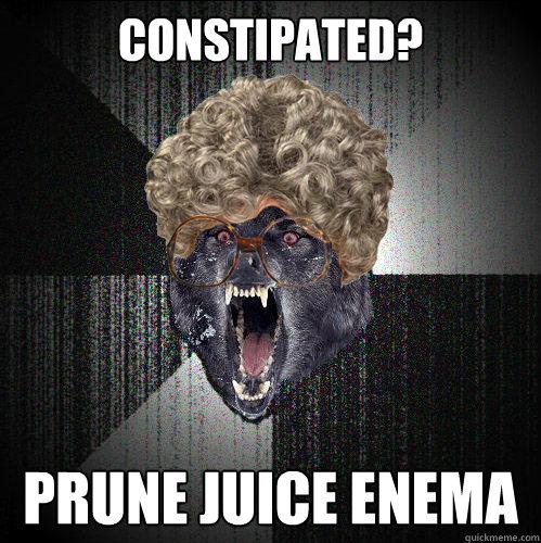 orange juice enema