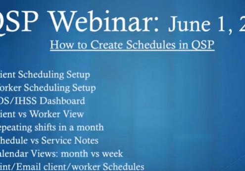 QSP website web app tutorial how to begin scheduling image