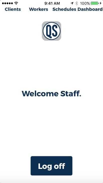 QSMobile home screen