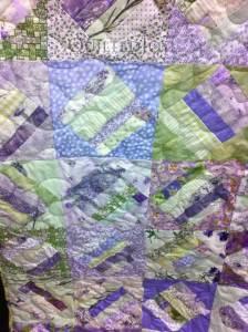 Strip set quilt medium