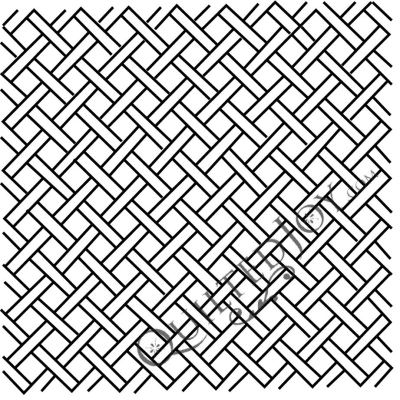 "1/2"" Mini Basket Weave Stencil available at QuiltedJoy.com"