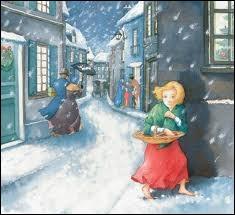 Qui chantait Le Noël de la rue c'est la neige et le vent, et le vent de la rue fait pleurer l'enfant, la lumière et la joie sont derrière les vitrines ni pour toi ni pour moi, c'est pour notre voisine