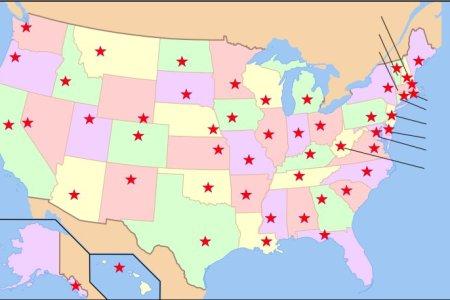 map and capitals quiz