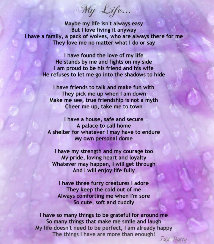 Encouraging Life Poem My Life Inspirational Quotes. My Beautiful ...