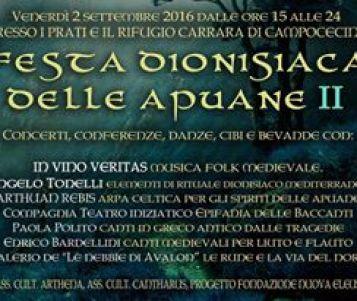 """Seconda edizione di """"APUA, Festa dionisiaca e celtica delle Alpi Apuane"""""""