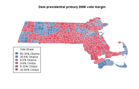 Democrat 2008 Presidential Primary results